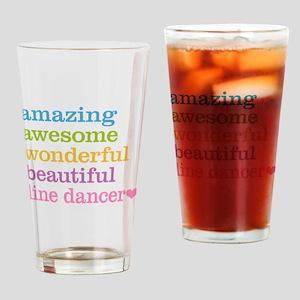 Line Dancer Drinking Glass
