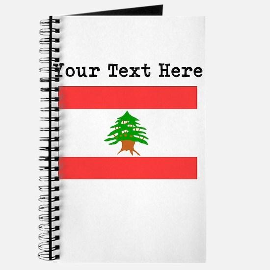 Custom Lebanon Flag Journal