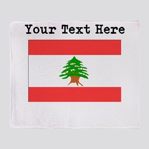 Custom Lebanon Flag Throw Blanket