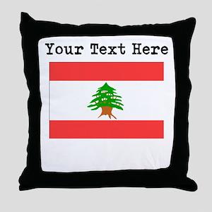 Custom Lebanon Flag Throw Pillow