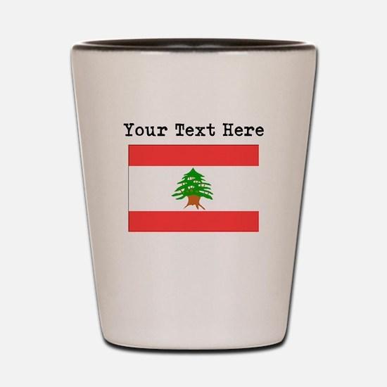 Custom Lebanon Flag Shot Glass