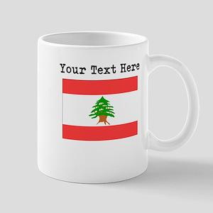 Custom Lebanon Flag Mugs