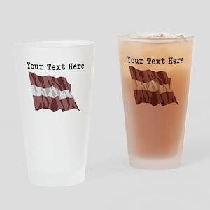 Custom Latvia Flag Drinking Glass
