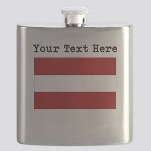 Custom Latvia Flag Flask
