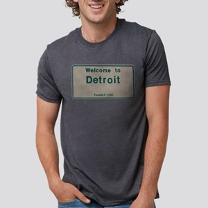 Welcome To Detroit-White and Green T-Shirt