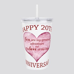 20th. Anniversary Acrylic Double-wall Tumbler