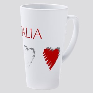 Italia Hearts 17 Oz Latte Mug