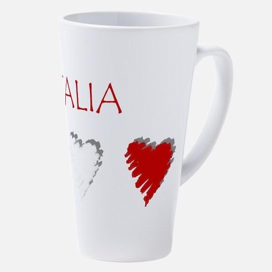 Italia Hearts 17 Oz Latte Mug