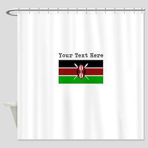 Custom Kenya Flag Shower Curtain