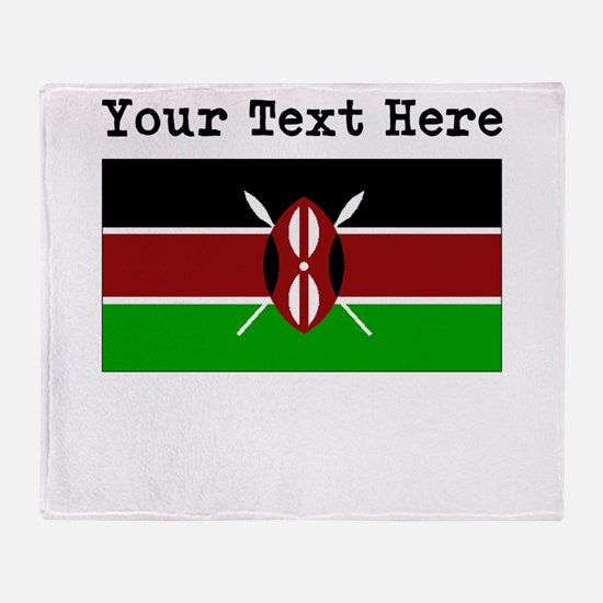 Custom Kenya Flag Throw Blanket