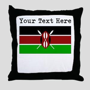 Custom Kenya Flag Throw Pillow