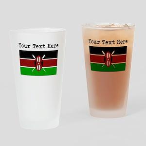 Custom Kenya Flag Drinking Glass