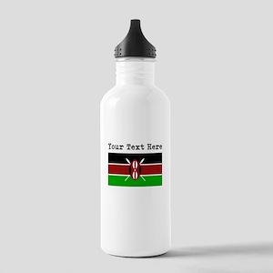 Custom Kenya Flag Water Bottle