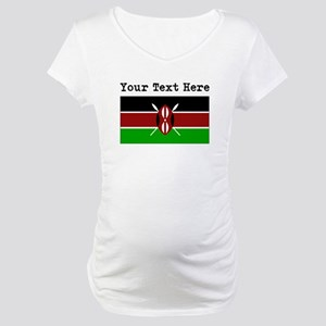 Custom Kenya Flag Maternity T-Shirt