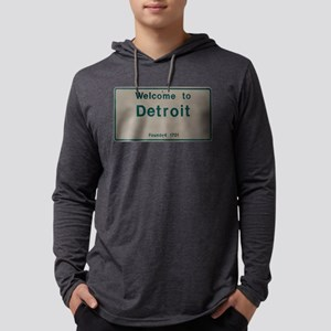 Welcome To Detroit-White and Green Long Sleeve T-S