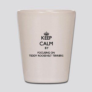 Keep calm by focusing on Teddy Roosevel Shot Glass