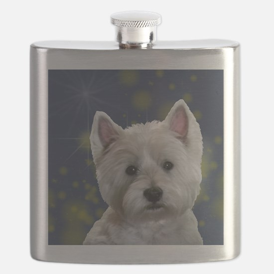 Cute West highland white terrier Flask