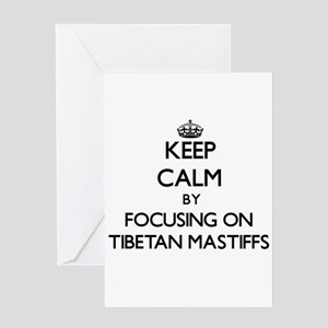 Keep calm by focusing on Tibetan Ma Greeting Cards