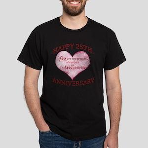 25th. Anniversary Dark T-Shirt