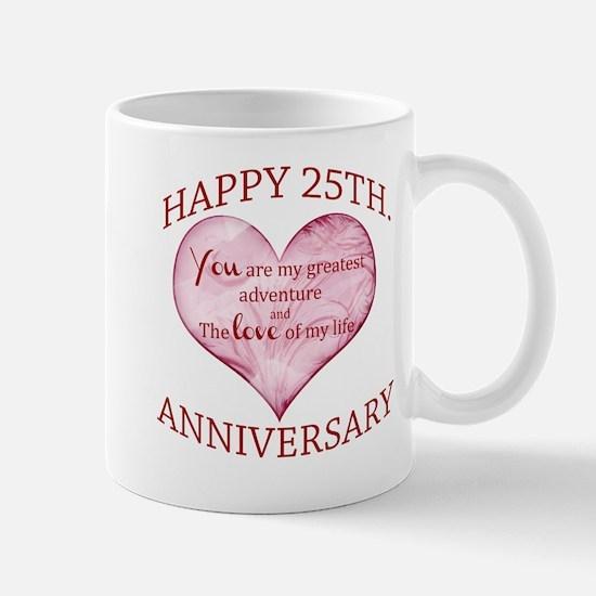 25th. Anniversary Mug