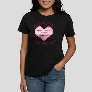 25th. Anniversary Women's Dark T-Shirt