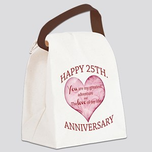 25th. Anniversary Canvas Lunch Bag