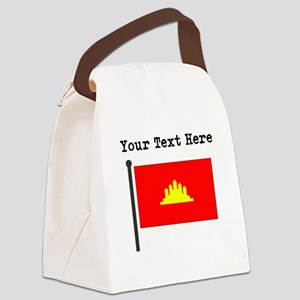 Custom Kampuchea Flag Canvas Lunch Bag