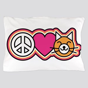 Peace-Love-Pussycats Pillow Case