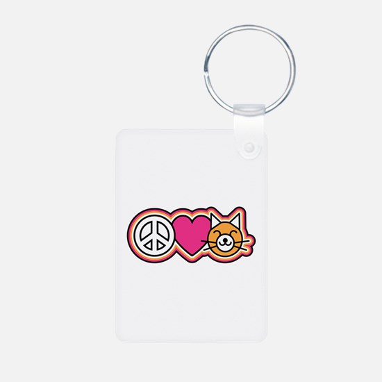 Peace-Love-Pussycats Keychains