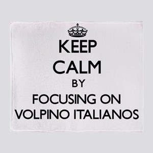 Keep calm by focusing on Volpino Ita Throw Blanket