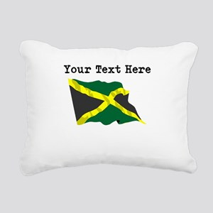 Custom Jamaica Flag Rectangular Canvas Pillow