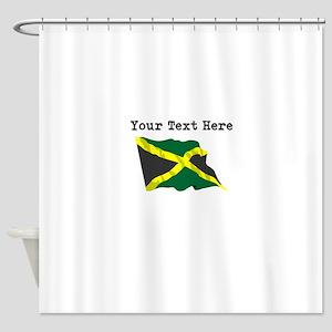 Custom Jamaica Flag Shower Curtain