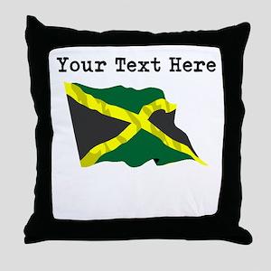 Custom Jamaica Flag Throw Pillow
