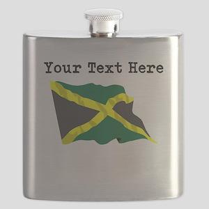 Custom Jamaica Flag Flask