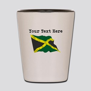 Custom Jamaica Flag Shot Glass