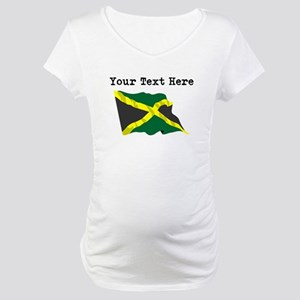 Custom Jamaica Flag Maternity T-Shirt