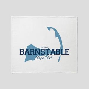 Barnstable - Cape Cod - Map. Throw Blanket