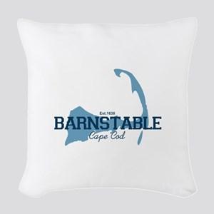 Barnstable - Cape Cod - Map. Woven Throw Pillow