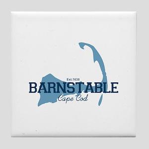 Barnstable - Cape Cod - Map. Tile Coaster