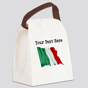 Custom Italy Flag Canvas Lunch Bag