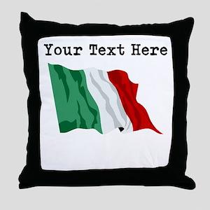 Custom Italy Flag Throw Pillow