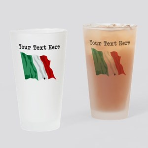 Custom Italy Flag Drinking Glass
