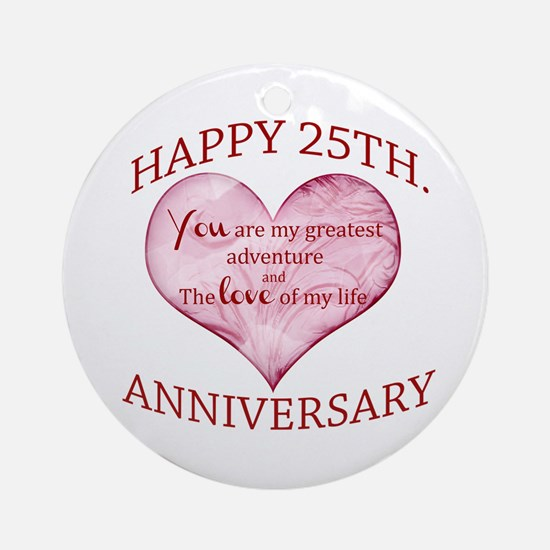 25th. Anniversary Ornament (Round)