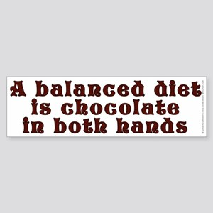 Balanced diet...chocolate - Sticker (Bumper)