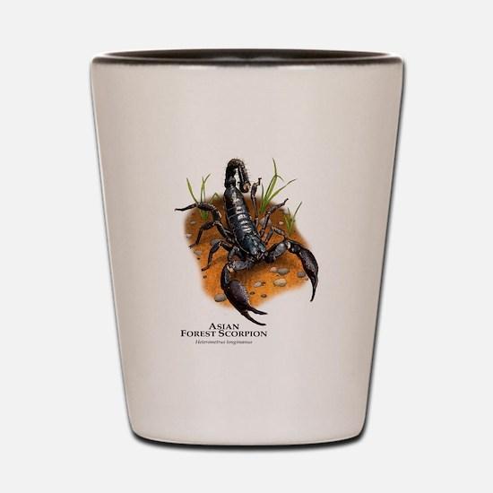 Asian Forest Scorpion Shot Glass