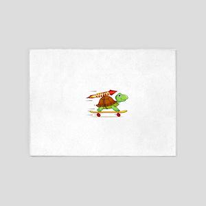 Rocket Propelled Tortoise 5'x7'Area Rug