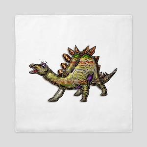 Scaly Rainbow Dinosaur Queen Duvet