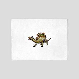 Scaly Rainbow Dinosaur 5'x7'Area Rug