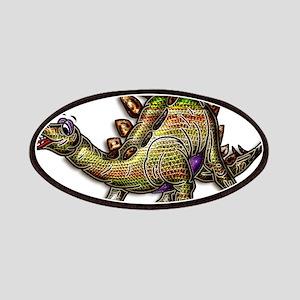 Scaly Rainbow Dinosaur Patches