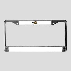 Scaly Rainbow Dinosaur License Plate Frame
